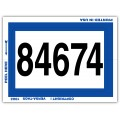 Consecutive Numbered Dealer Window Stickers