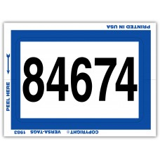 """""""Clear Back"""" Stickers - Numbered with Border - 3"""" x 4"""" (Package of 100)"""