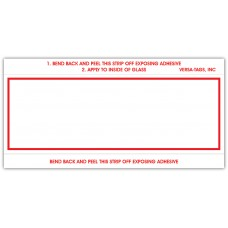 """""""Clear Back"""" Stock Mini Number Signs - 3"""" x 6"""" - White with Red Border (Package of 250)"""
