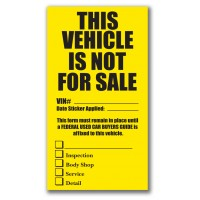 This Vehicle Is Not For Sale Extra Large Check Box Stickers (Package of 100)