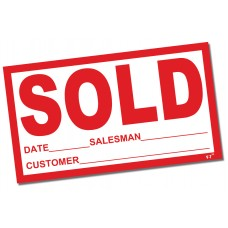 Sold Stickers (Package of 100)