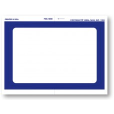 """""""Clear Back"""" Stickers - Blank with Blue Border - 4-1/2"""" x 6"""" (Package of 250)"""