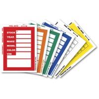 """KLR-BAK """"Clear Back"""" Window Sticker Tickets (Package of 100)"""