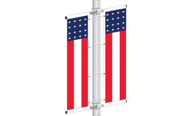 Americana Avenue Pull Down Banner (Complete Kit)