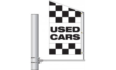 Crazy Bracket Stock Checkered Message Flag (Double-Faced)