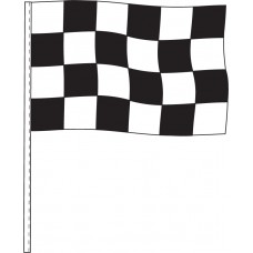 "Black and White Checkered Antenna Flags 12"" x 18"" - 4 mil Poly (Sold by the Dozen)"