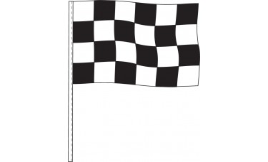 "Black and White Checkered Antenna Flags 12"" x 18"" - Cloth (Sold by the Dozen)"