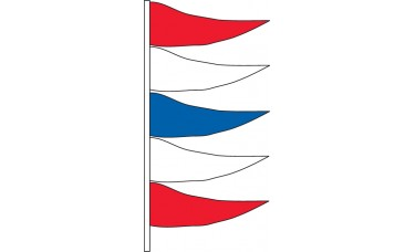 Antenna Pennants Style P - Red, White, Blue