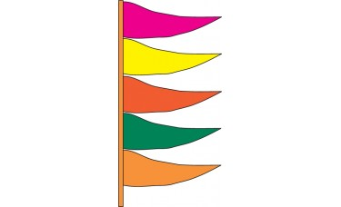 Antenna Pennants Style A - Alternating Colors