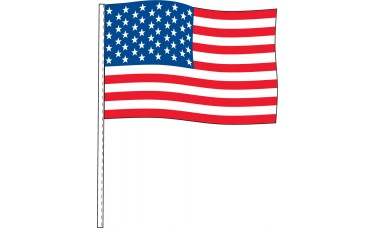 "USA Antenna Flags 12"" x 18"" - 4 mil Poly (Sold by the Dozen)"