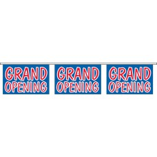 "Grand Opening Blue Banner Strings - 18"" x 12"" (4 Mil Polyethylene)"