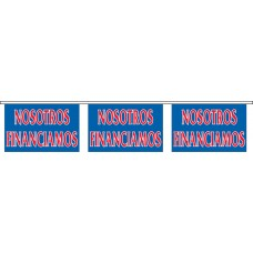 "Nosotros Financiamos Blue Banner Strings - 18"" x 12"" (4 Mil Polyethylene)"