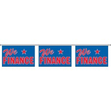 "We Finance Blue Banner Strings - 18"" x 12"" (4 Mil Polyethylene)"