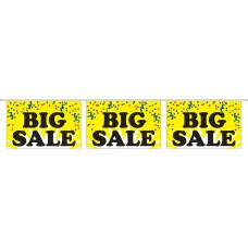 "Big Sale Yellow Banner Strings - 18"" x 12"" (4 Mil Polyethylene)"