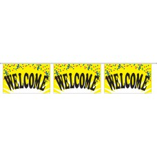 "Welcome Yellow Banner Strings - 18"" x 12"" (4 Mil Polyethylene)"