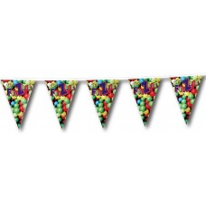 """Custom Full Color Triangle Pennant Strings - 12"""" x 18"""" (One-Sided Imprint)"""