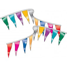 "Metallic Triangle Pennant Strings - 6"" x 18"""