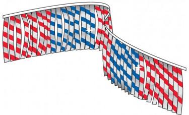 Metallic Striped Fringe Streamers