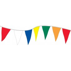Non-Fluorescent Plasticloth Pennants - 12in. x 18in.