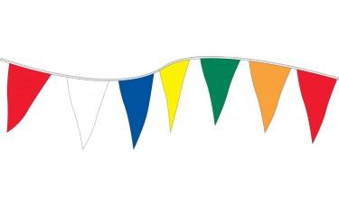 "Plasticloth Triangle Pennant Strings - 12"" x 18"""