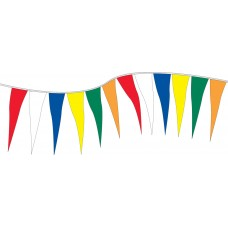 Non-Fluorescent Plasticloth Pennants - 6in. x 18in.