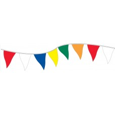 Non-Fluorescent Plasticloth Pennants - 9in. x 12in.