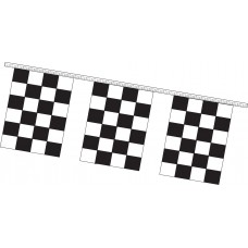 4 Mil Polyethylene Rectangle Checkered Pennants - 9in. x 12in.