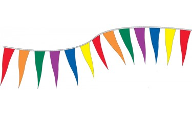 8 Mil Polyethylene Spectrum Pennants - 6in. x 18in.