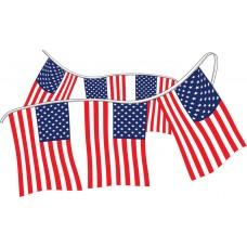 4 Mil Polyethylene Economy American Flag Pennants