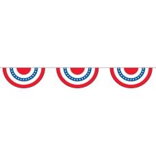 "Patriotic Pleated Fans Pennant Strings - 12"" x 24"" (4 Mil Polyethylene)"