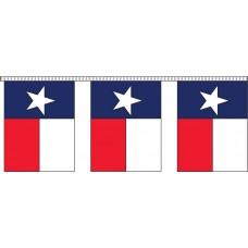 "Texas State Flag Pennant Strings - 9"" x 12"" (4 Mil Polyethylene)"