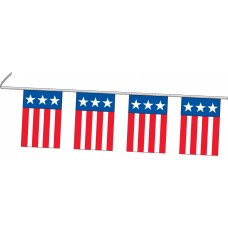 "Stars & Stripes Rectangle Flag Pennant Strings - 9"" x 12"" (4 Mil Polyethylene)"