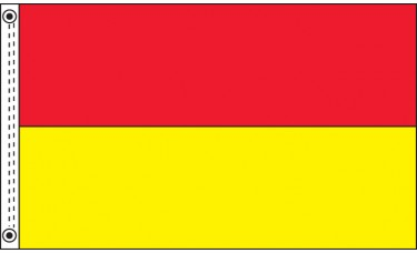 3ft. x 5ft. Nylon Bicolor Flag with 2 Solid Colors