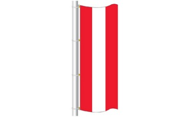 Free Flying Flag Tricolor with 3 Solid Colors 3ft. x 8ft.
