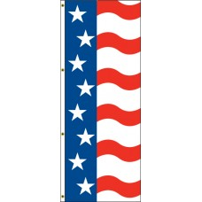 Free Flying Flag with American Design 3ft. x 8ft.