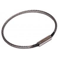 "Flexible Cable Tamper Proof Key Ring - 2"" Diameter"