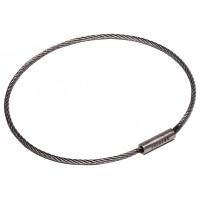 "Flexible Cable Tamper Proof Key Ring - 3"" Diameter"