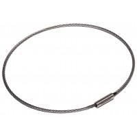 "Flexible Cable Tamper Proof Key Ring - 4"" Diameter"