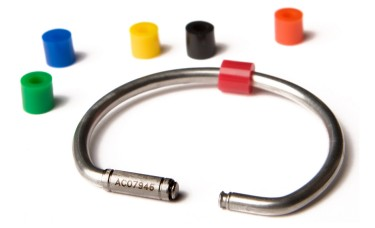 Color Coded Rings for Tamper Proof Key Rings