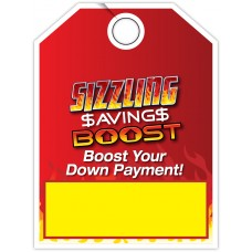 "Custom Full Color Digitally Printed Mirror Hang Tags - 9"" x 12"" (Package of 50)"