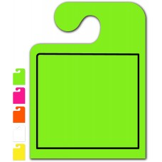 """Blank With Border """"Hook Style"""" Mirror Hang Tags - 9"""" x 12"""" (Package of 50)"""