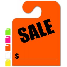 """Sale """"Hook Style"""" Mirror Hang Tags - 9"""" x 12"""" (Package of 50)"""
