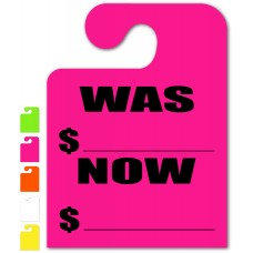 """Was Now """"Hook Style"""" Mirror Hang Tags - 9"""" x 12"""" (Package of 50)"""