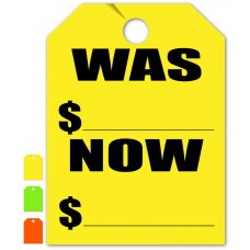 """Was Now Mirror Hang Tags - 9"""" x 12"""" (Package of 50)"""