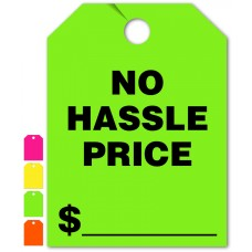 """No Hassle Price Mirror Hang Tags - 9"""" x 12"""" (Package of 50)"""