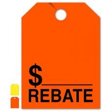 """Rebate Mirror Hang Tags - 9"""" x 12"""" (Package of 50)"""