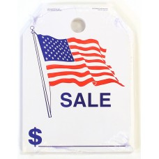 "American Flag Sale Mirror Hang Tags - 9"" x 12"" (Package of 50)"