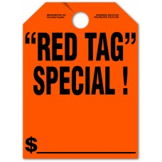 """Red Tag Special Mirror Hang Tags - 9"""" x 12"""" (Package of 50)"""