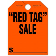 """Red Tag Sale Mirror Hang Tags - 9"""" x 12"""" (Package of 50)"""