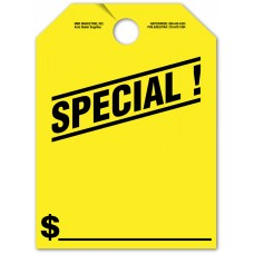 """Special Mirror Hang Tags - 9"""" x 12"""" (Package of 50)"""